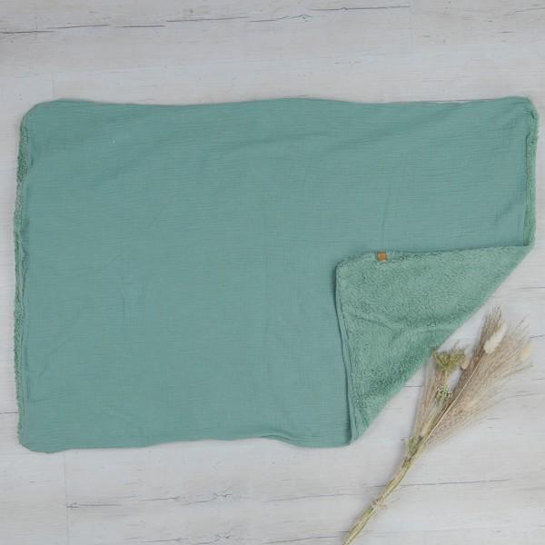 Babydecke - natural cotton - pistazie