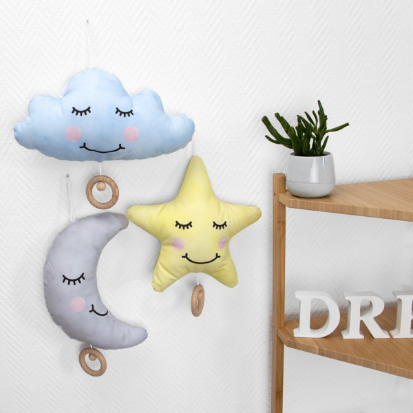 Spieluhr - Mond, Stern, Wolke