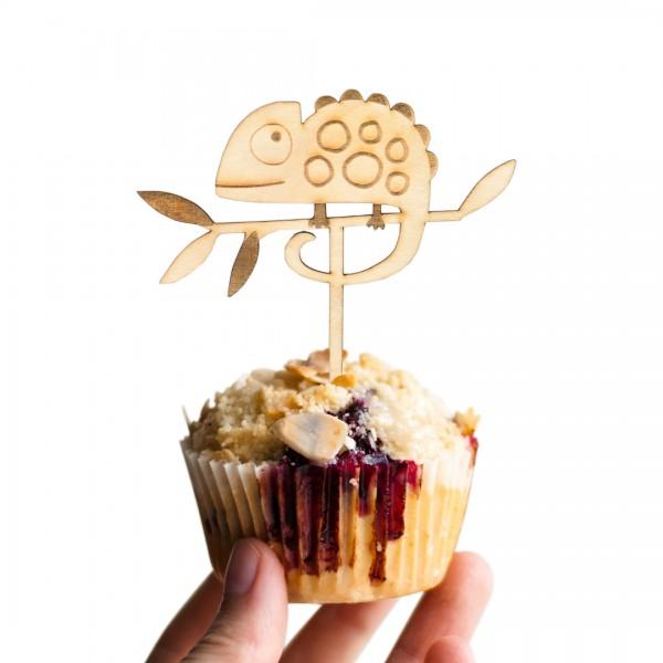 Cake Topper - Dschungel - Chamäleon