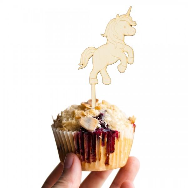 Cake Topper Einhorn glücklich auf Muffin