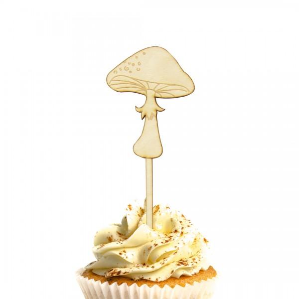 Pilz Cake Topper auf Muffin