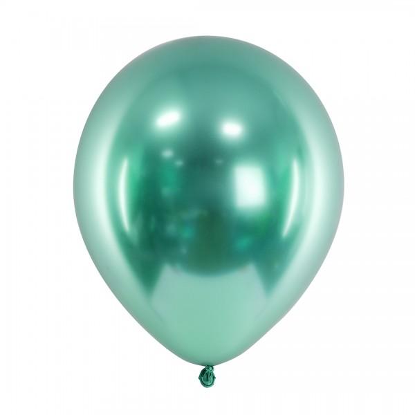 Ballons - Party Deko – Grün glänzend 30 cm 50 Stk. Detail