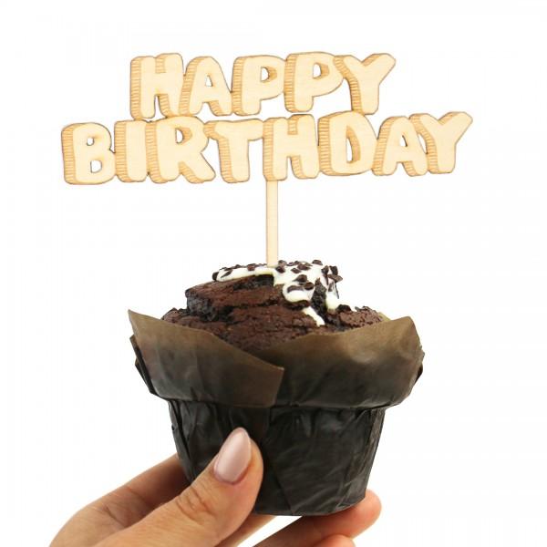 Cake Topper - Happy Birthday - 3D-Effekt