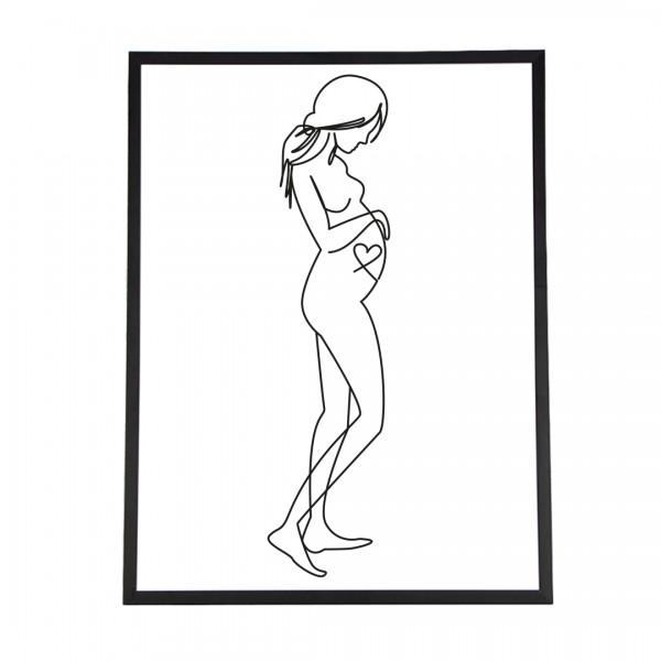 Line Art – Kunstdruck – Liebe im Bauch