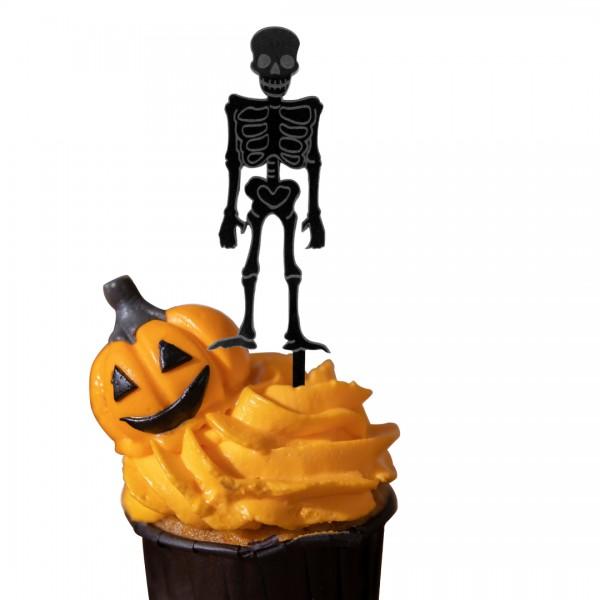 Cake Topper Skelett auf Muffin