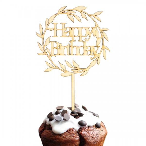 Cake Topper - Happy Birthday - Nr. 2