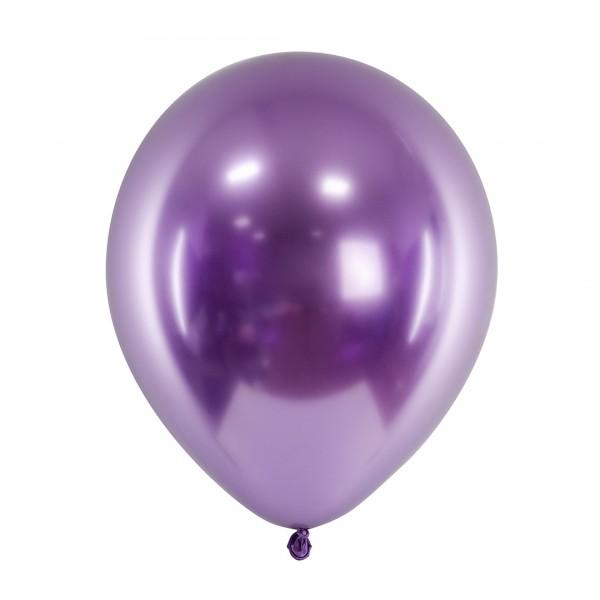 Ballons - Party Deko – Flieder glänzend 30 cm 50 Stk. einzeln
