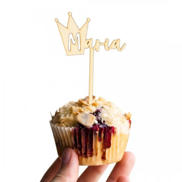 """Muffin mit personalisierbaren Cake Topper Krone """"Prinzessin"""""""