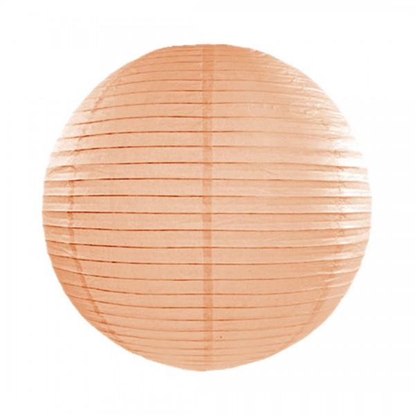 pfirsichfarbener Papier-Lampion mit 25 cm Durchmesser