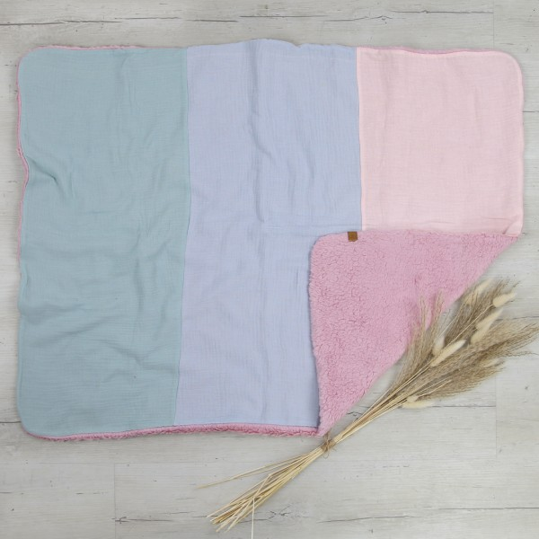 Babydecke - natural cotton - pastell