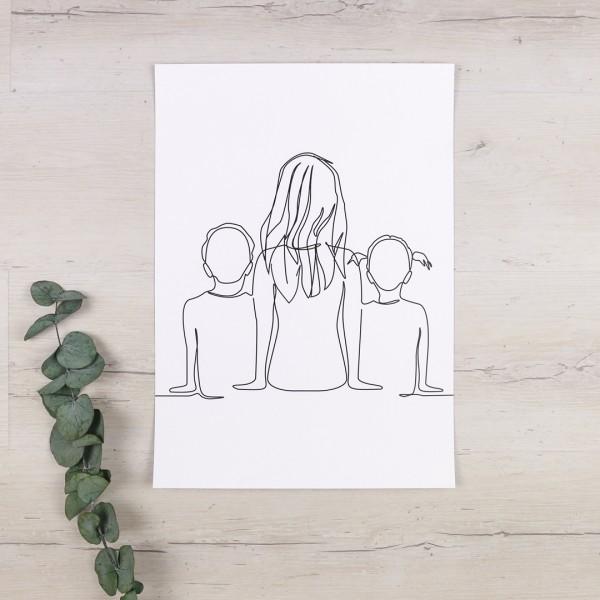 Line Art – Kunstdruck – Wir