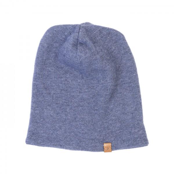 Strick Beanie - graublau