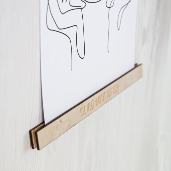 Bilderleiste mit Wunschtext – A4 gerade Gravur