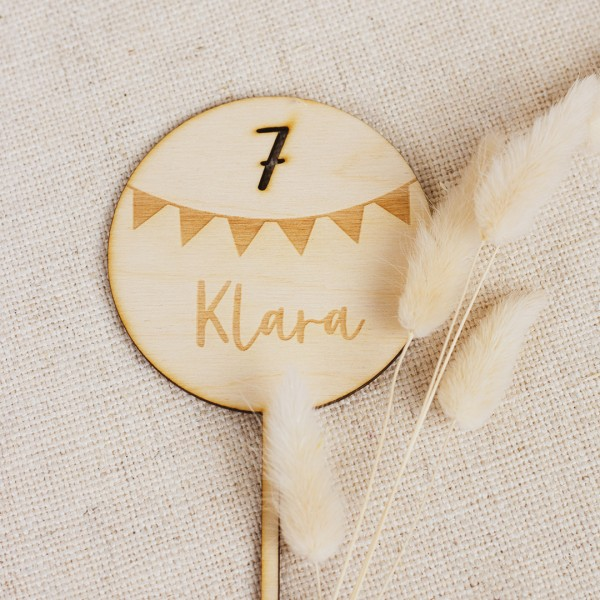 Cake Topper - Wimpelkette - Wunschname