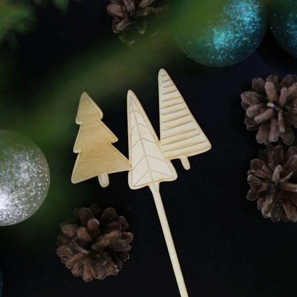 Cake Topper Winterwald zwischen Weihnachtsdeko