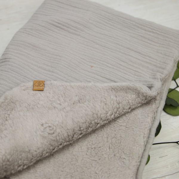 Babydecke - natural cotton - beige