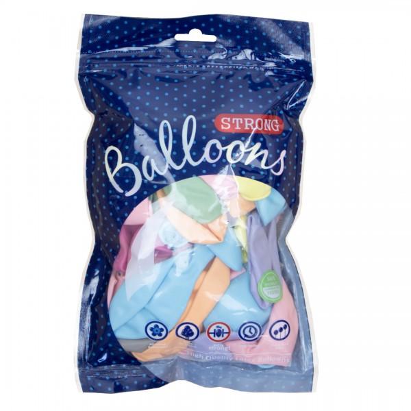 Luftballons   Party Deko   Pastell Mix 30 cm 50 Stk.