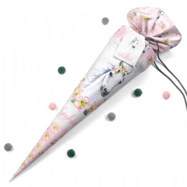 Schultüte - Blumenpferd (Der Anhänger ist nicht im Lieferumfang enthalten.)