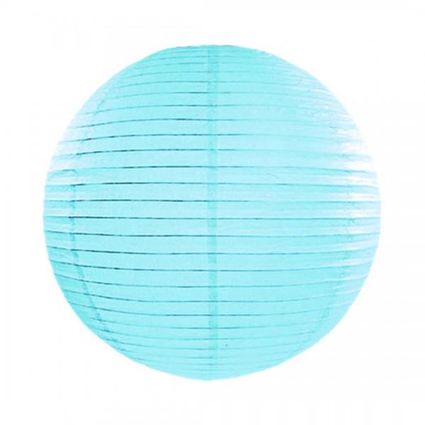 Papier-Lampion mit 35 cm Durchmesser in Hellblau