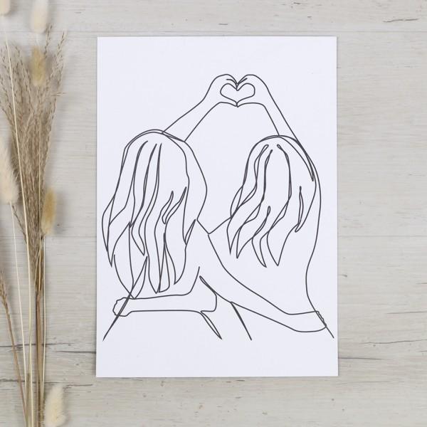 Line Art – Kunstdruck – Herzensmensch