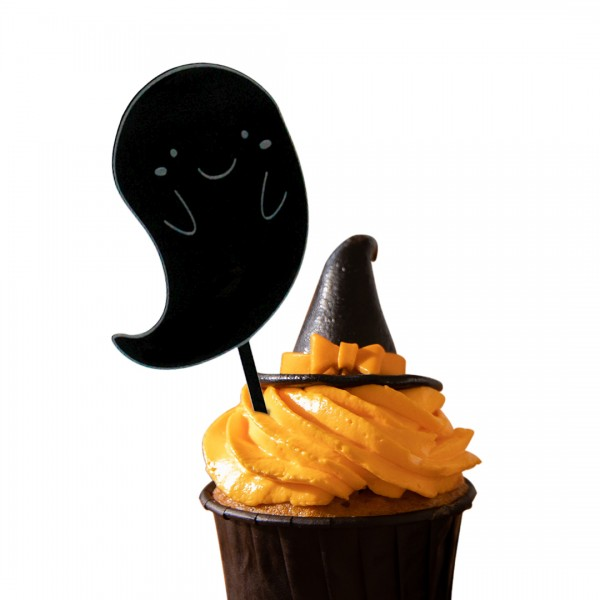 Cake Topper Gespenst auf Muffin