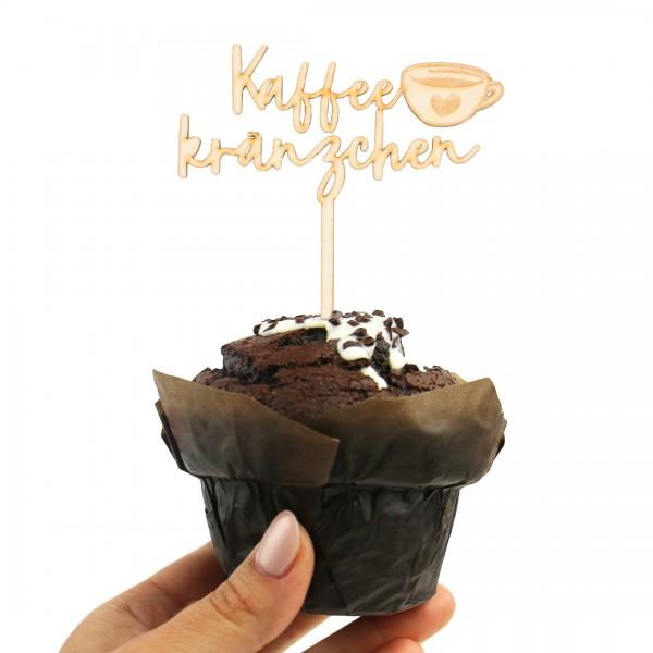 Cake Topper Kaffeekränzchen mit Kaffeetasse auf Muffin