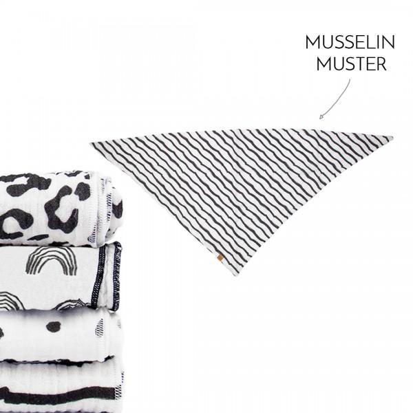 Dein Dreieckstuch groß - Wunschmuster - Black&White