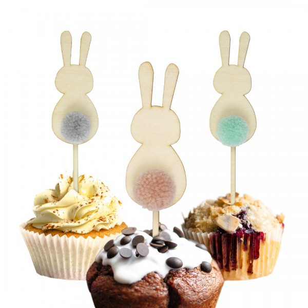 Cake Topper - Hase - Pompon