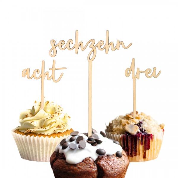 Cake Topper - Wunschzahl - alphabetisch