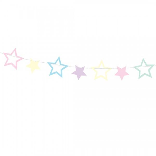 Girlande Einhörner Sterne, Detailaufnahme