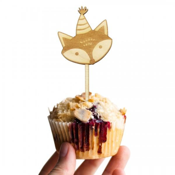Cake Topper Fuchs auf Muffin