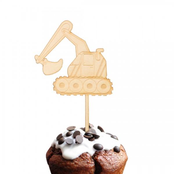 Cake Topper Bagger auf einem Muffin