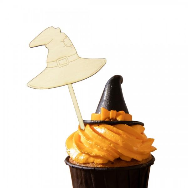 Hexen Hut Cake Topper auf Muffin