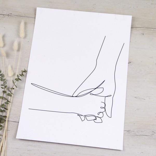 Line Art – Kunstdruck – Nimm meine Hand