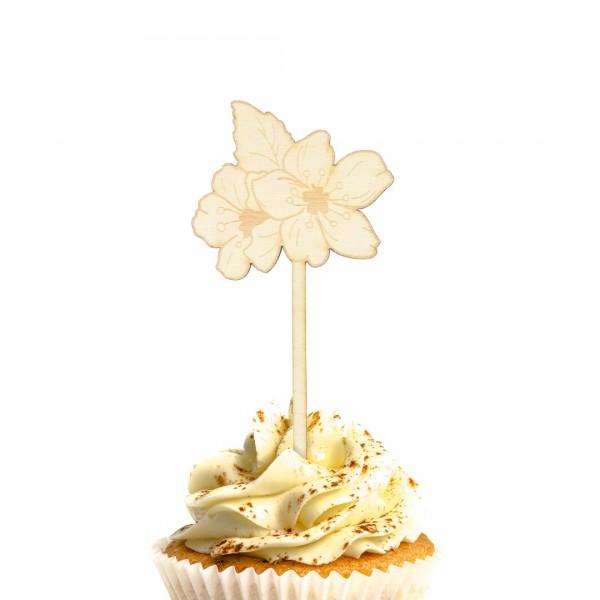 Cake Topper | Blumen | Kirschblüten in einem Muffin