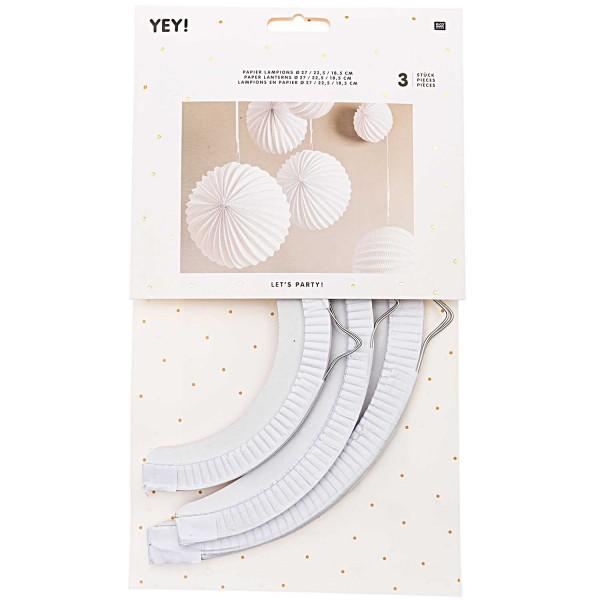 Papier Lampions - weiß