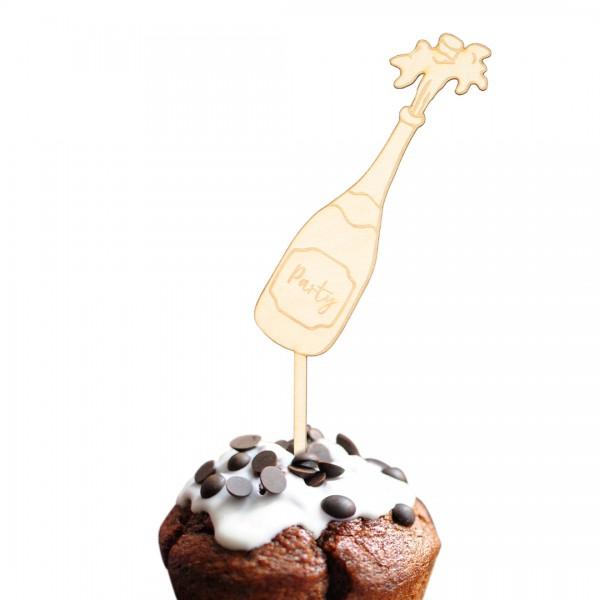 Cake Topper - Party - Sektflasche