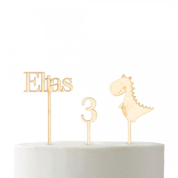 "Set ""T-Rex-Torte""   Cake Topper"