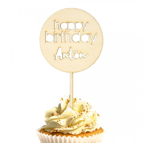 Cake Topper - Happy Birthday - Nr. 4