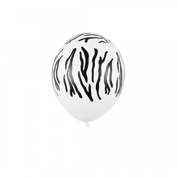 Ballons mit Zebraoptik