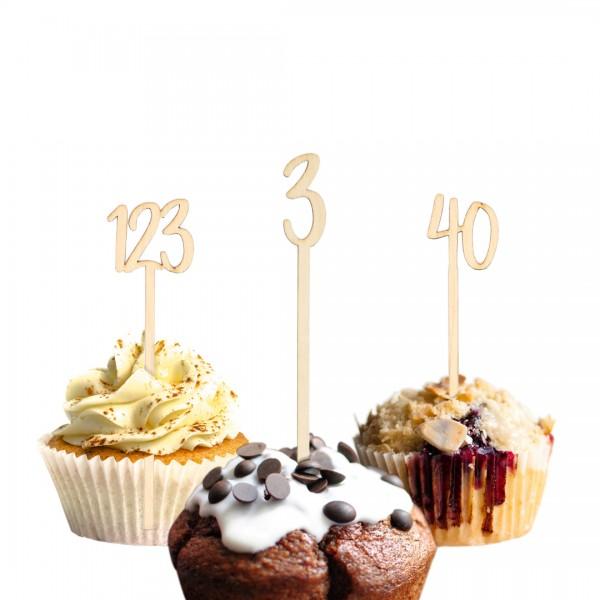 Cake Topper - Wunschzahl - verspielt numerisch