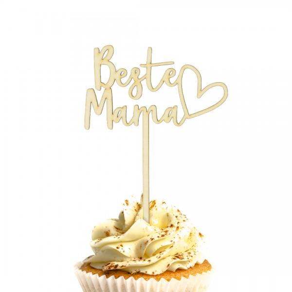 Cake Topper - Muttertag - Beste Mama - Herz