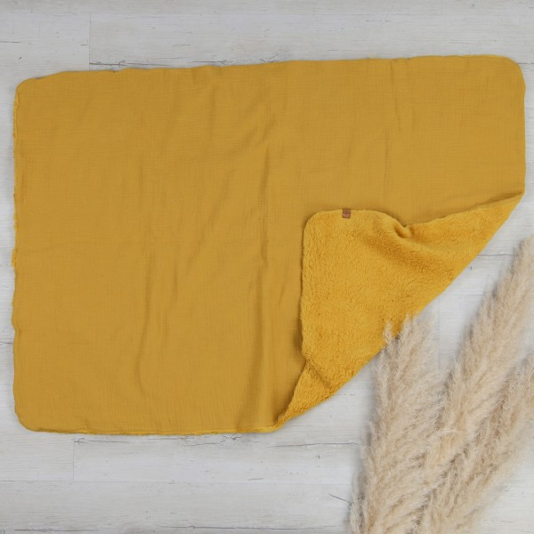 Babydecke - natural cotton - senf