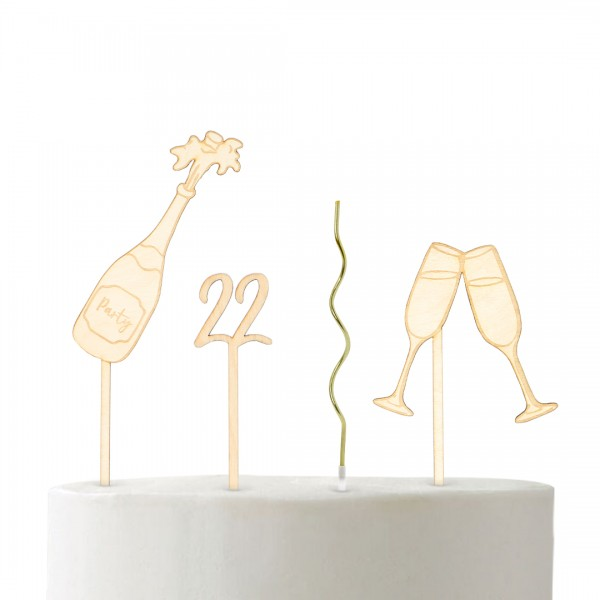 """Set """"Party""""   Cake Topper"""
