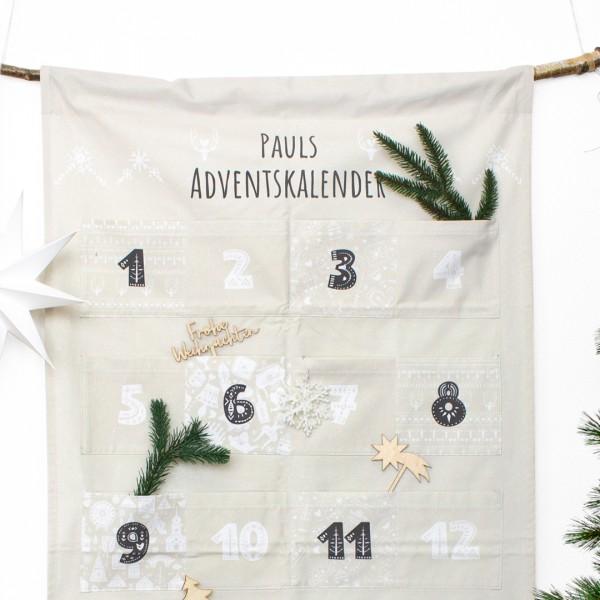 Detailaufnahme Adventskalender Hygge mit unseren weihnachtlichen Cake Toppern