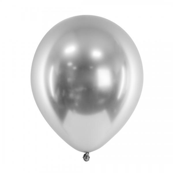 Ballons - Party Deko – Silber glänzend 30 cm 50 Stk. Detail