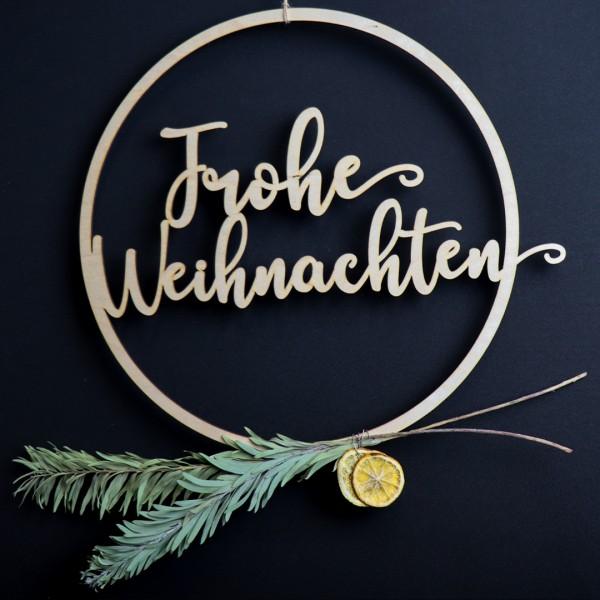 Holzkranz - Wunschtext - 2 Zeilig