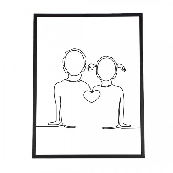 Line Art – Kunstdruck – Gemeinsam