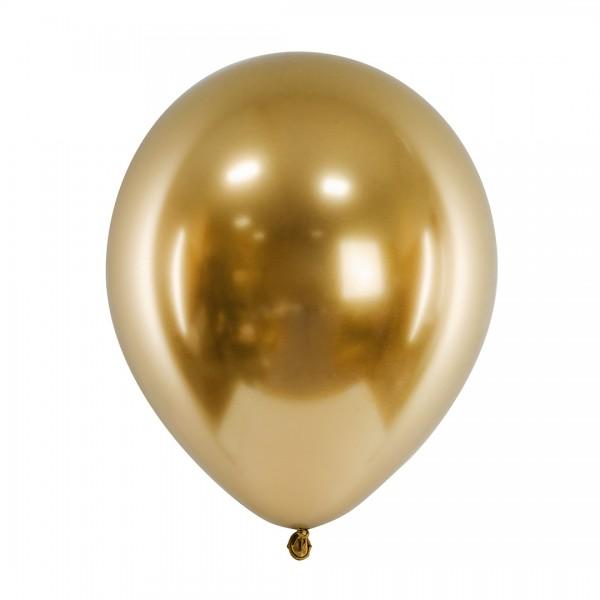 Ballons - Party Deko – Gold glänzend 30 cm 50 Stk. Detail