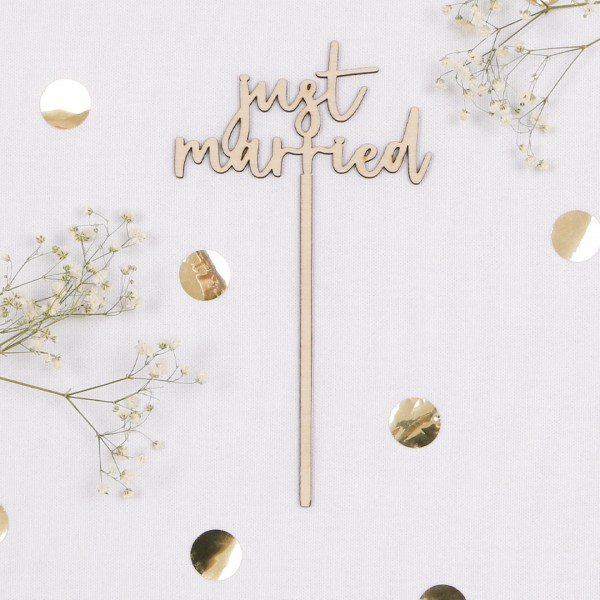 Cake Topper - just married
